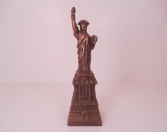 Vintage Metal Souvenir Building of the Statue of Liberty