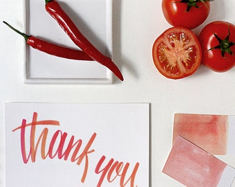 thank you card | thank you greeting card | thank you note | calligraphy thank you note | calligraphy thank you card