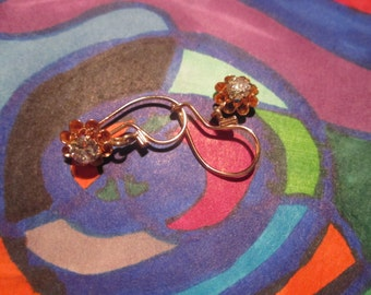 14K Vintage Estate Diamond Dangle Earrings