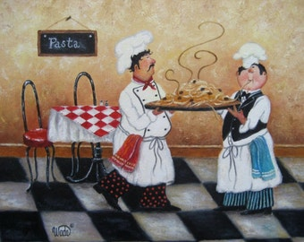 Refrigerator  Magnet,   Pasta Chef's  Kitchen    NEW LARGER SIZE !!