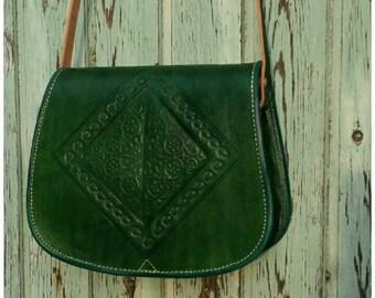 Green Diamond leather bag