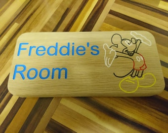 Mickey Mouse Wooden Oak Plaque