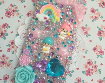 Ready to Ship: Kawaii Pastel LTS Themed Bling Decoden iPhone 6 / 6s Rhinestone Phone Case