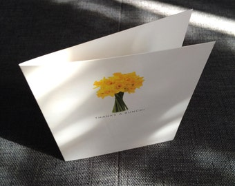 Daffodils bunch thank-you note