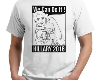 hillary clinton we can do it 2016 political vote funny t shirt