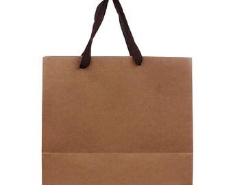 1 x Kraft paper bag / Kraft shopping bag / Large size paper bag /