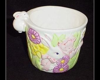 Russ Berrie Vintage Bunny Flower Pot