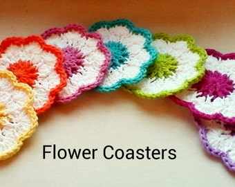30% OFF ENTIRE PURCHASE Coupon Code (CBE30) Set Of 6 Crochet Coasters Or Dish Cloths