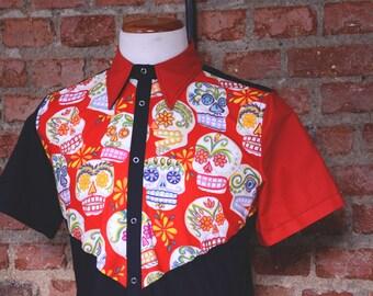 """Shirt man """"Bustier Sugar Skull"""""""