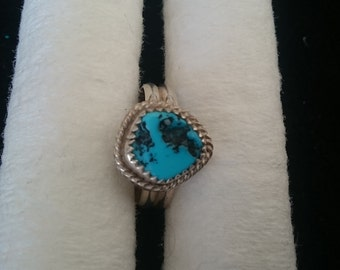 R34914 Authentic Sleeping Beauty Turquoise Ring. Size 6