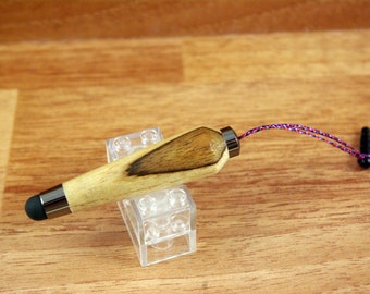 Hububalli wood Hand turned Mini Stylus for iPad & touchscreens with Gun Metal colored hardware