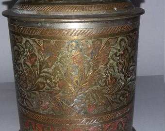 Vintage Indian tea caddy