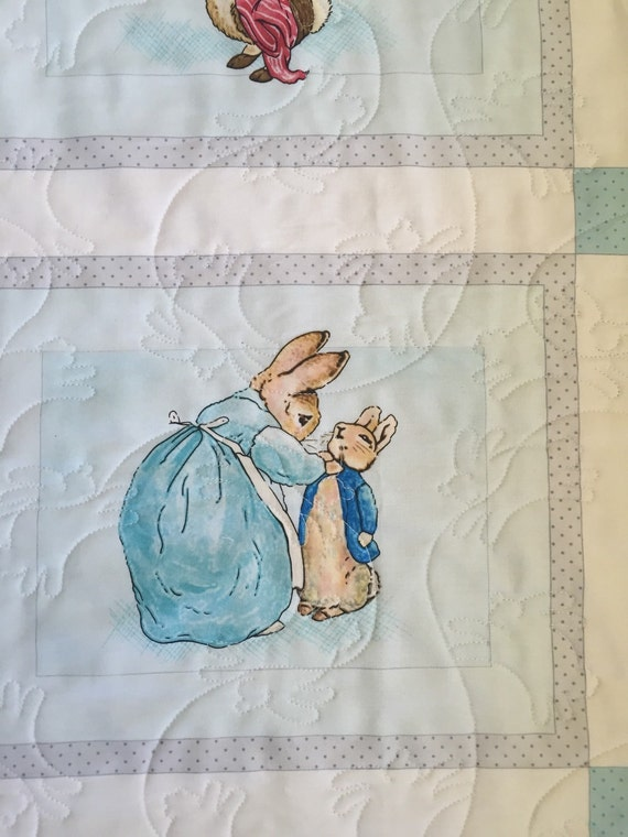 Beatrix Potter Peter Rabbit Baby Crib Cot Quilt Playmat