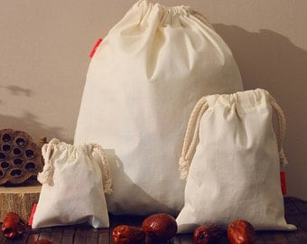Personalize wedding monogram cotton bag drawstring pouch custom favor gift bride groom name bag- xyhk14