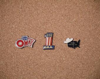 Vintage 'American' Lapel Pins