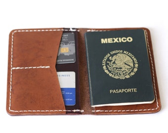 Hughes Leather Passport Cover & Cardholder/ Color options available