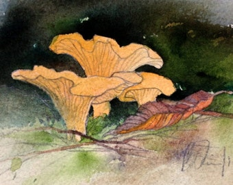 Art Card; Chanterelles