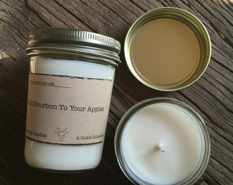 Add Bourbon to Your Apples Soy Candle