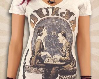 Ouija Board Shirt - Retro Vintage Style Ouija T Shirt - Deep V-Neck Scoop Neck Fantasy Tees