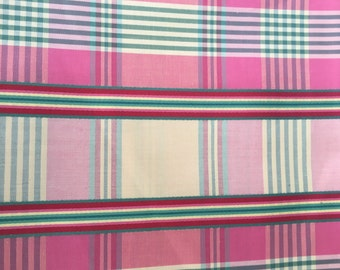 Plaid Sateen Fabric