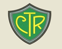 CTR embroidery file Choose the Right Shield Design Religious LDS Mormon for machine embroidery Instant Download .Pes .Exp .Jef and More!