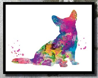 Welsh Corgi Watercolor Print Corgi Dog Art Dog Watercolor Dog Home Decor Dog painting Dog Illustration Dog nursery Birthday gift Dog poster