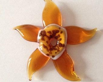 SUNFLOWER: Murano glass pendant. Exclusive.