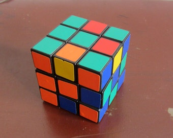 Vintage Rubik's cube, Magic Cube IQ test, 1980s 3D puzzle, vintage toy, gift for everyone, gift for him or her, for dad, brother, boyfriend