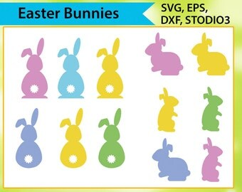 Easter Bunny Svg,  Svg files for silhouette cameo, cricut explore, Bunny Svg, Silhouette Cut Files, Cricut Cut Files, Svg Files, PNG, DXF