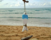 Mobile decorative sea wood white fish, driftwood Mobile, eco decoration, beach Decor