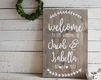 Rustic Wedding Decor, Welcome Wedding Sign, Welcome to our Wedding Sign, Personalised Wedding Sign, Rustic Wedding Signs,Wooden Wedding Sign
