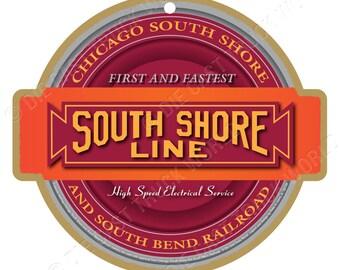 Chicago Sorth Shore & South Bend Railroad Sorth Shore Line Logo Wood Plaque/Sign