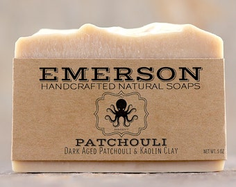 Aged Dark Patchouli Soap with Kaolin Clay • Palm Free Vegan Avocado Soap, Natural Soap, Handmade Soap, Cold Process Soap
