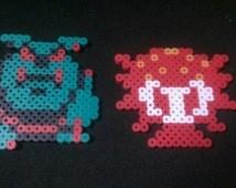 Legend of Zelda Perler bead pixel art octorok and moblin 2 piece set