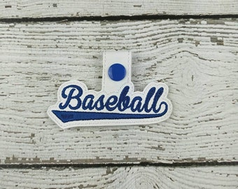 Baseball Keychain - Baseball Keyfob - Spirit Wear - Sports Mom - Bag Tag - Bag Accessory - Zipper Pull