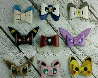 Battle Monster Inspired Hair Bow Set of 9