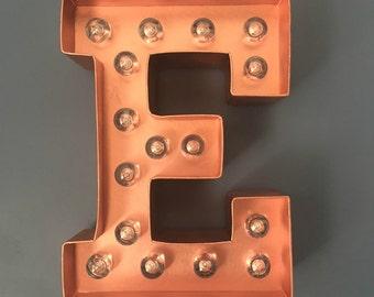 Personalised light up bespoke marquee letter - full range