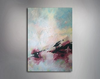 """Abstract Painting - Sky Painting - Colorful Painting - 20"""" x 28'' Painting - 50 cm x 70 cm - Acrylic Painting - Original Art"""