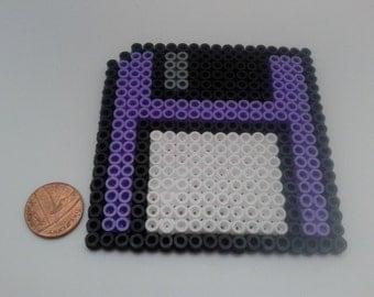 Retro Floppy Disk Perler Hama Bead Coaster