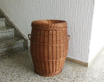 Large hand made basket from 1950s