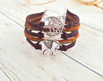 Elephant Jewelry, Tree of Life Bracelet, Elephant Bracelet, Elephant Gifts, Gift for Her, Tree of Life Jewelry, Infinity Bracelet