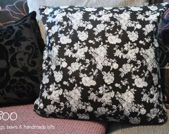 Cushion Cover - Black Roses