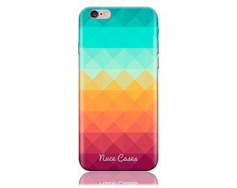 Clearance! For Samsung Galaxy S6 Edge Case #Pixel Waves Cool Design Hard Phone Case aka G925