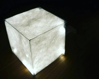 Cube tyvek lamp handmade