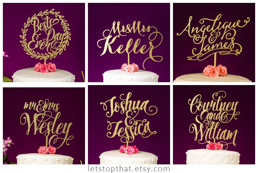 wedding cakes with names wedding cake toppers with names of and groom 26060