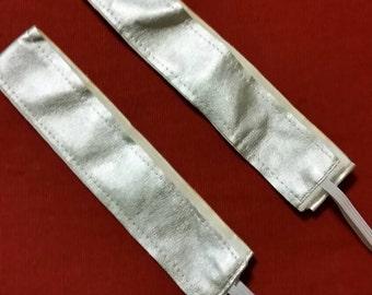 Silver No-Slip Headband-Thick