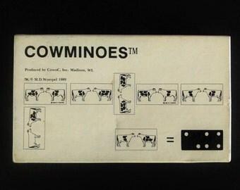 Cowminoes M.D. Woerpel 1989 Cow Domino Game