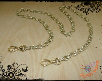 Satin gold chain shoulder strap for bags, available in 4 sizes