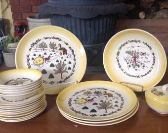 Country Charm, Grant Quest, Salem Partial Dish Set