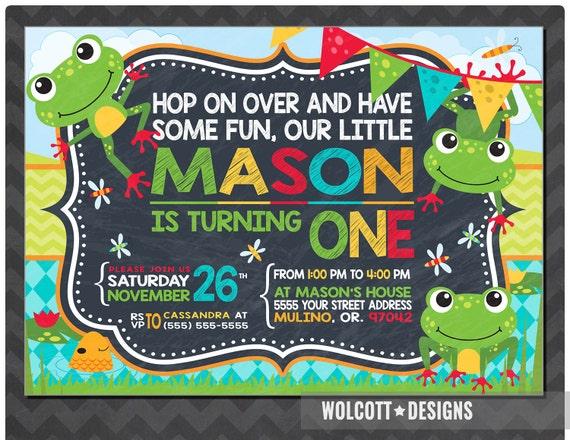 Frog birthday invitations frog birthday party birthday invitation il570xn filmwisefo